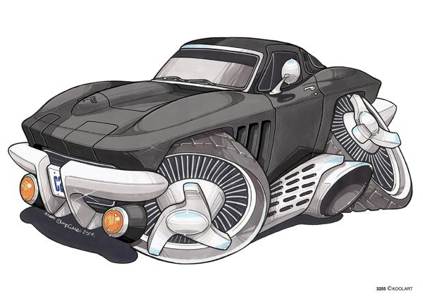 Corvette C2 Noire