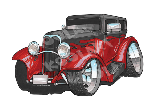 Ford Hot Rod Rouge
