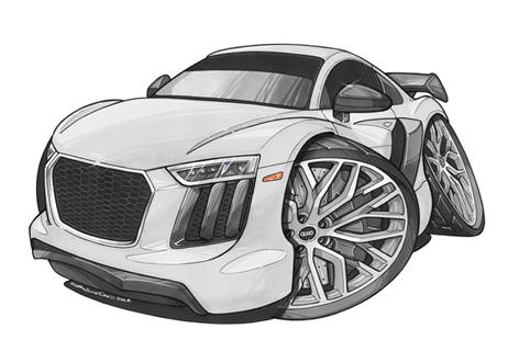 Audi R8 Face Blanche
