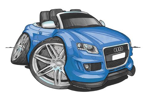Audi RS4 Cabriolet Bleue