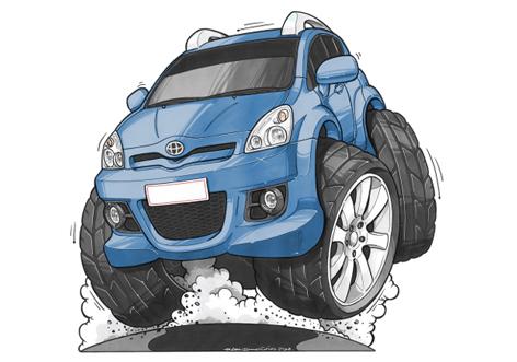 Toyota Corolla Bleue
