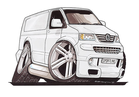 VW Transporter T5 Blanc