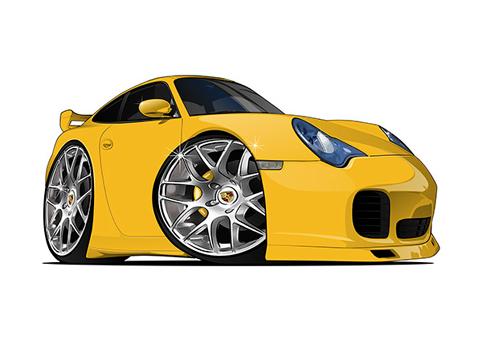Porsche Carrera Jaune