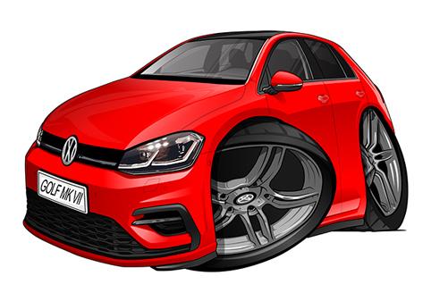 Volkswagen Golf 7 Rouge