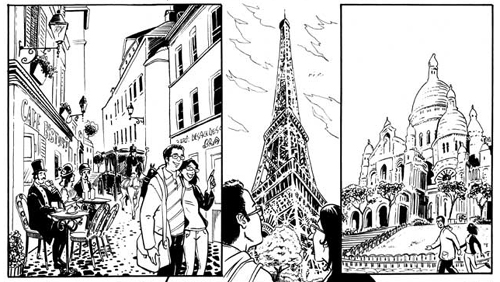 Vignette tratte da una tavola personalizzata realizzata dai disegnatori di comics provider