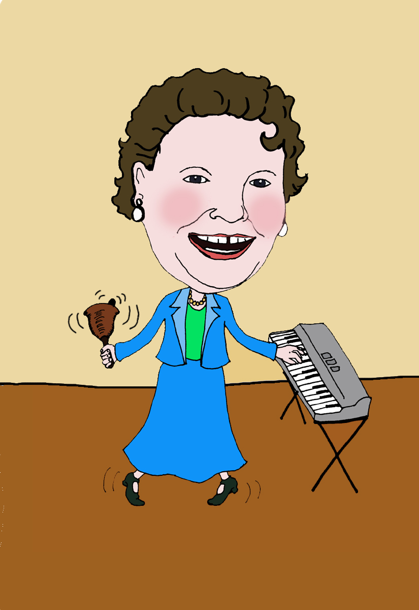 A caricature I created for Treasa for a retirement card in 2009