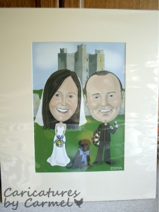 Caricature Wedding Guest Signing Board
