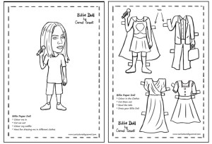 Billie Paper Doll created by Caricatures by Carmel