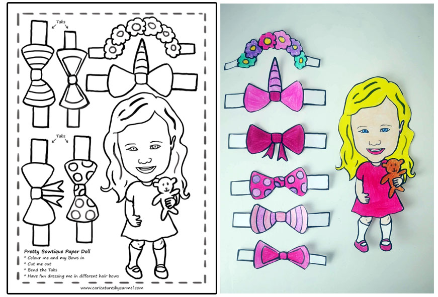 Pretty Bowtique Paper Doll