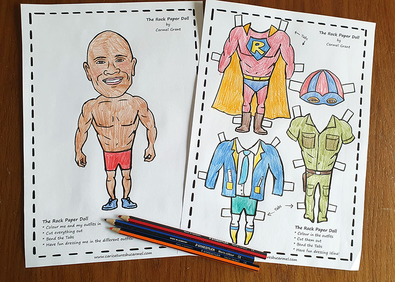 The Rock Paper doll pattern