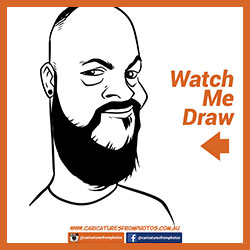Free Digital Caricature Sketch Perth 05