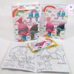 Lembrancinhas Tema Trolls -Kit Colorir