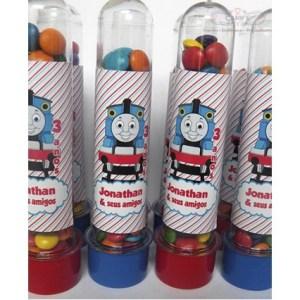Tubete Personalizado Trenzinho Tomaz com confete