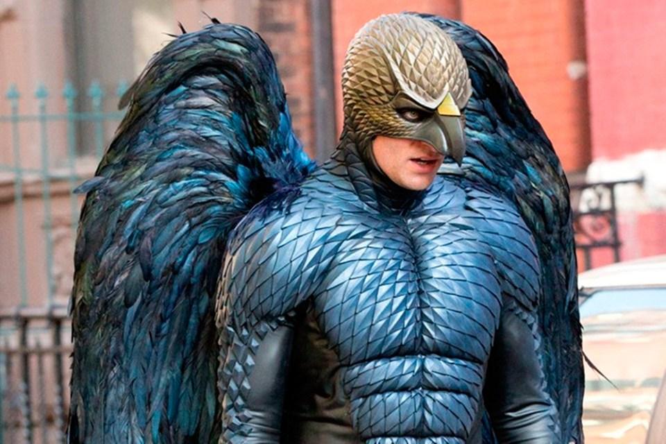 Mickael Keaton i Birdman-drakt.