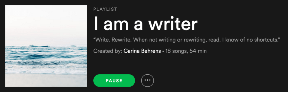 I am a writer - Carina Behrens, carinabehrens.com