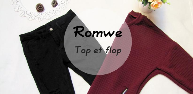 Février mes tops et flops site Romwe plus avis