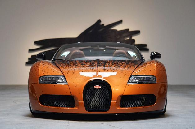 Bugatti Veyron Grand Sport Venet on display in Beverly Hills