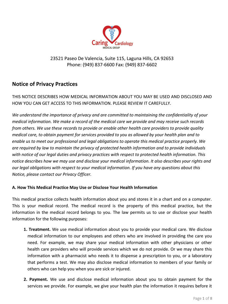 Hipaa Privacy Policy
