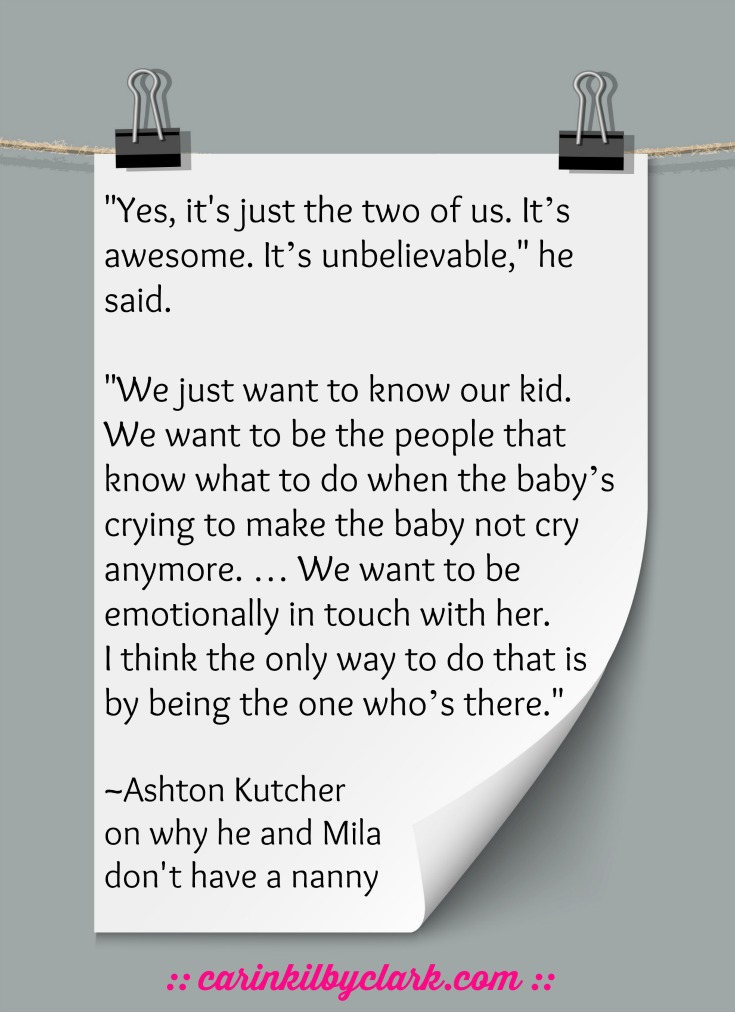Why Ashton Kutcher and Mila Kunis are my favorite celebrity parents