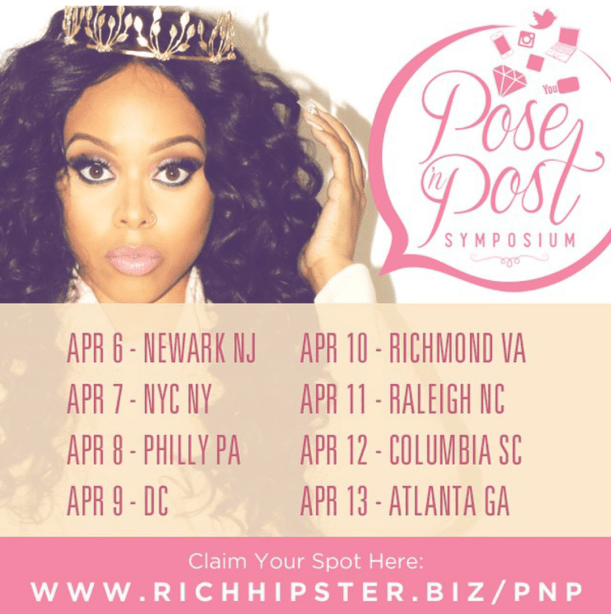 Chrisette Michele Pose N Post Symposium, A Social Media It Girl 8 City Tour