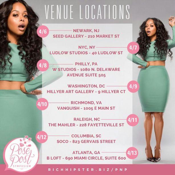 Chrisette Michelle Pose N Post Symposium, A Social Media It Girl 8 City Tour via @carinkilbyclark