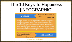 The 10 Keys To Happiness [Infographic] via @carinkilbyclark