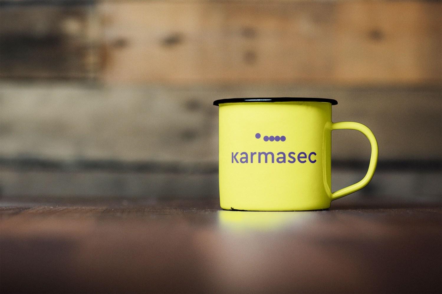 Karmasec visual identity e branding di Carin Marzaro