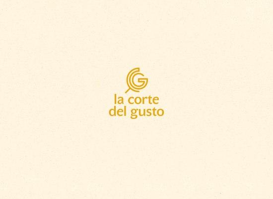 La Corte del Gusto, identità visiva, logo design di Carin Marzaro