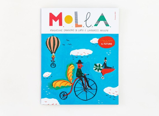 Children's editorial, MOLLA Magazine for kids, Il Futuro, illustration by Carin Marzaro, illustrazione per Molla giornalino per bambini