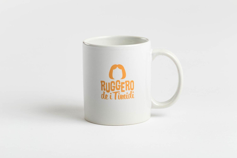 Ruggero de I Timidi, logo design, identità visiva di Carin Marzaro