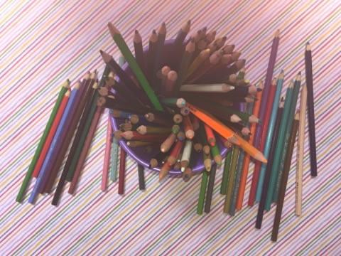 lapis de cor tudo colorido