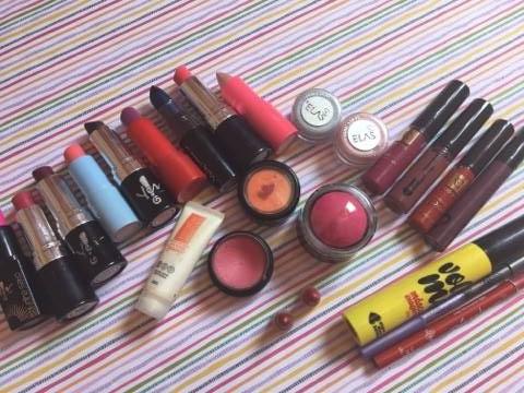 maquiagem tudo colorido