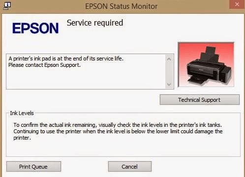 Cara Mereset Tinta Printer Epson Lseries
