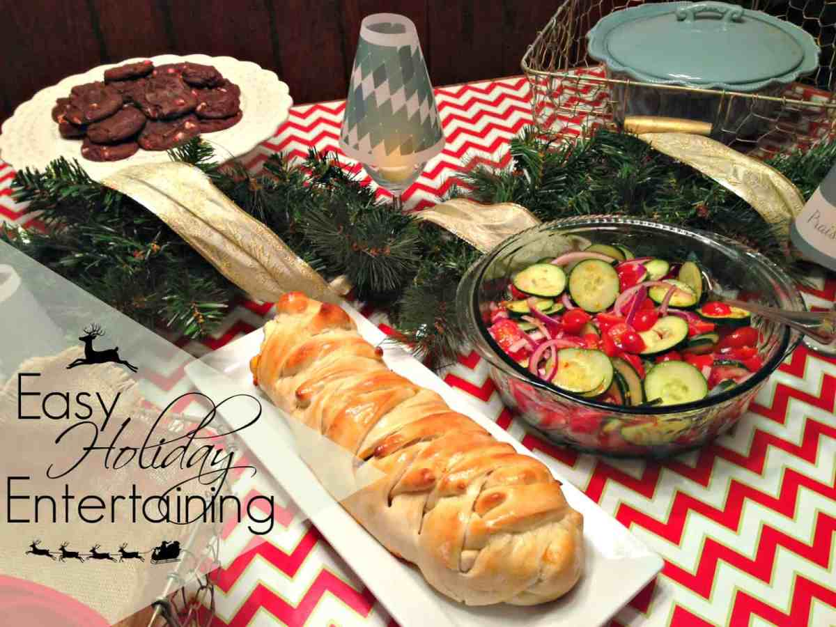 Easy Holiday Entertaining and Lasagna Stuffed Garlic Bread Recipe