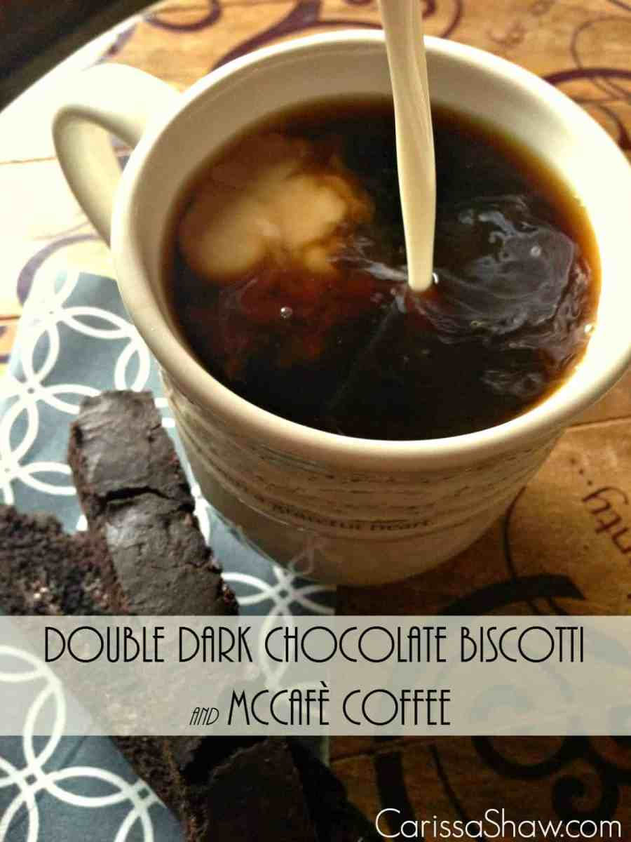 Time Out for Mom with Double Dark Chocolate Biscotti and McCafe Coffee
