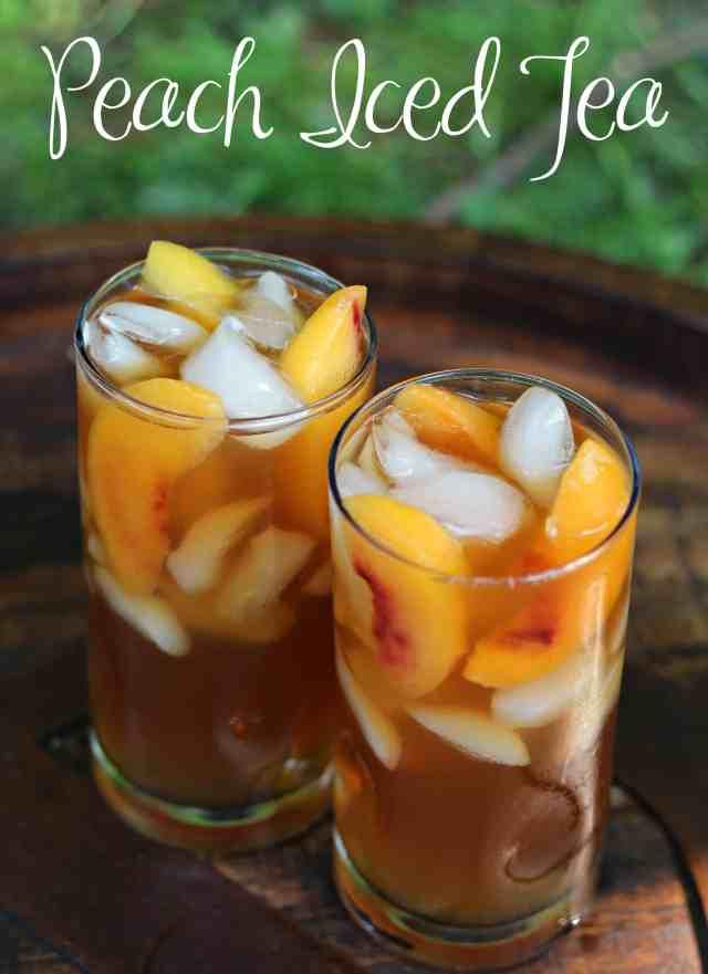 Grilled Pineapple Ice Cream Cake and Peach Iced Tea 14