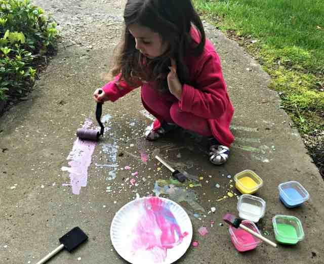 Homemade Sidewalk Chalk Paint 5