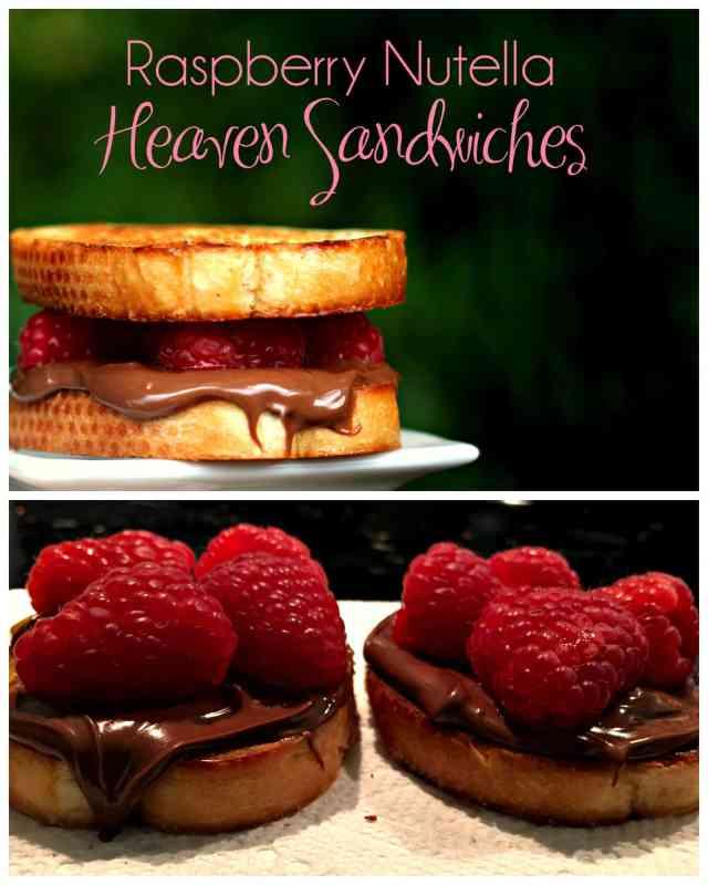 Raspberry Nutella Heaven Sandwiches