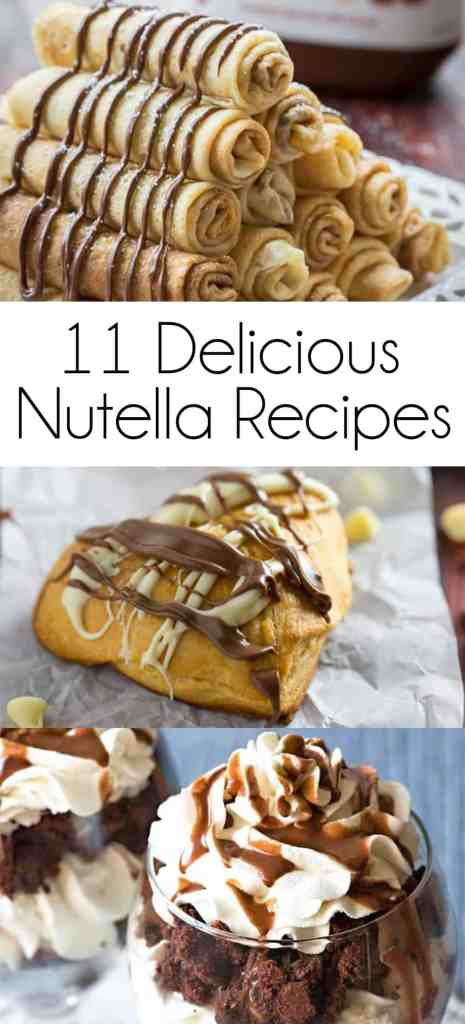 11 Delicious Nutella Recipes pin