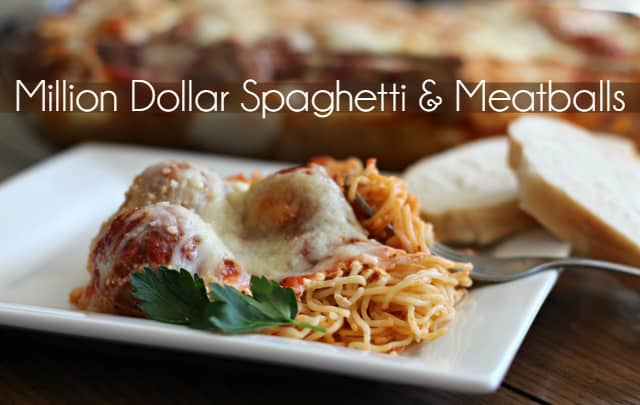Million Dollar Spaghetti and Meatballs h