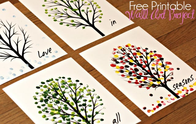 Love in All Seasons - Free Printable Art Project