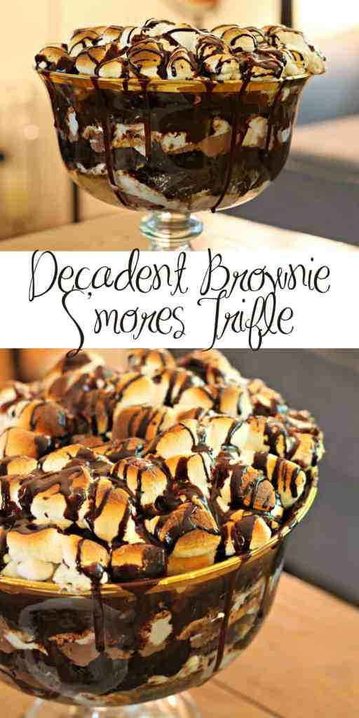 Decadent Brownie S'mores Trifle 14