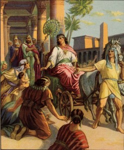 Joseph made second highest ruler in egypt