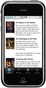 ProLife Rosary iPhone App-Today