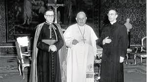 St. Josemaria with Pope St. John XXIII and Venerable Alvaro del Portillo