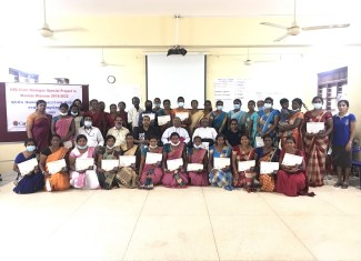 """Inauguration of 'Federation Level Committee"""" and distribution of Certificates of IHD-Civic dialogue Project by His Lordship the Bishop of Mannar"""