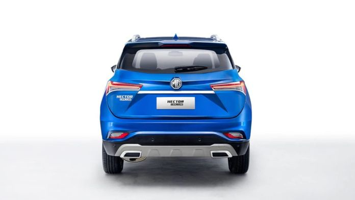MG Hector Plus 7-Seater Rear Profile
