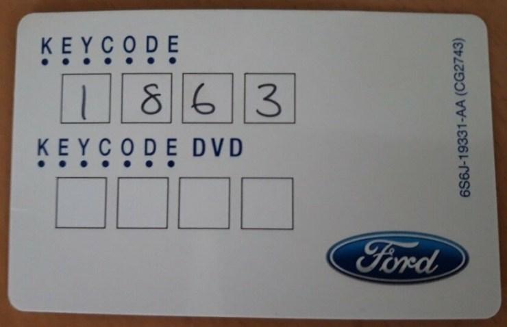 Ford keycode till radion. Nyckelkod till Ford kan CarKey i Linköping hjälpa dig med.