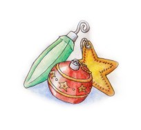 Xmas watercolours - Baubles