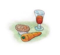 Xmas watercolours - Food for Santa & Rudolph
